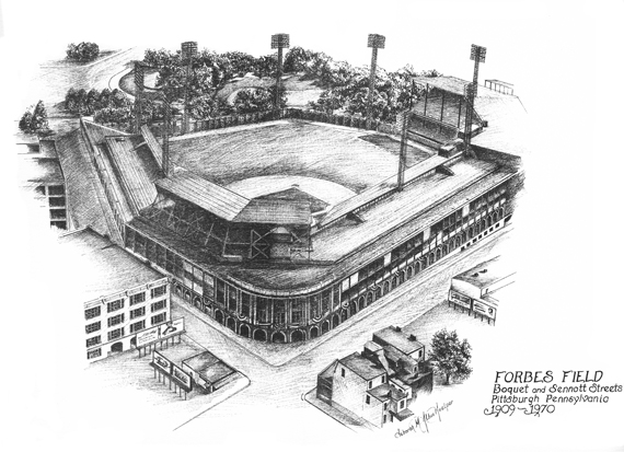 Forbes Field Illustration by the Graphic Edge